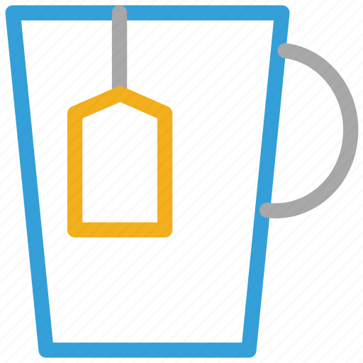 cup of tea, tea, tea cup, teabag in cup icon