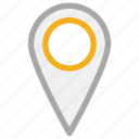 gps, location pin, navigation, pin icon