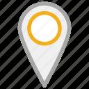 gps, location pin, navigation, pin icon