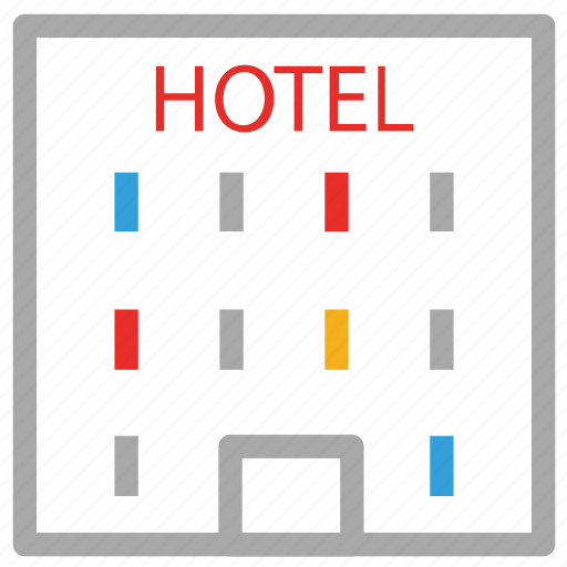 building, hotel, hotel sign, real icon