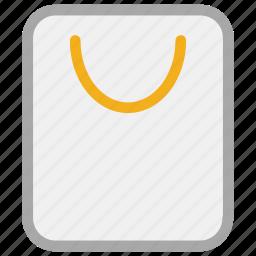 bag, paper bag, shopper, shopping bag icon