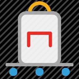 hotel, hotel baggage cart, hotel baggage trolley, luggage cart icon