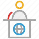 airport reception, announcement, announcer, reception icon