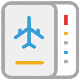 air flight ticket, air plane ticket, air ticket, plane ticket icon