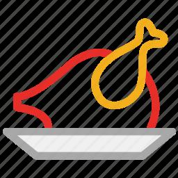 chicken, roast, roasted chicken, turkey icon