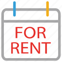 for rent, information, real estate, signboard icon