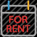 information, signboard, for rent, real estate