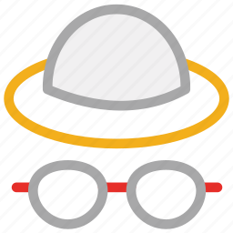 cap, glasses, hat, hat and glasses icon