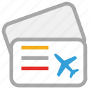 air ticket, airplane ticket, flight ticket, ticket icon