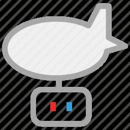 aeroplane, aircraft, airship, zeppelin icon