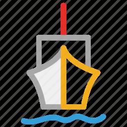 sea, ship, shipping, travel icon