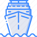 journey, ship, tourist, transport, travel icon