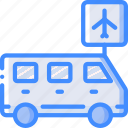 airport, journey, tourist, transfer, transport, travel icon