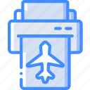 journey, print, ticket, tourist, transport, travel icon