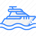 boat, journey, tourist, transport, travel icon