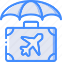 insurance, journey, tourist, transport, travel icon