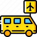 airport, journey, tourist, transfer, transport, travel icon