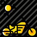 journey, motorbike, tourist, transport, travel icon