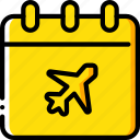 date, journey, tourist, transport, travel icon