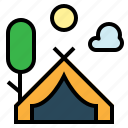 activity, camping, gear, outdoors icon