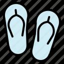 flip, flop, sandal, summer icon