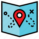location, map, sticky icon