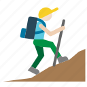 mountaineer, explorer, hiking, adventurer, hiker, person