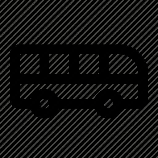 bus, public, school, study, transport, transportation, travel icon