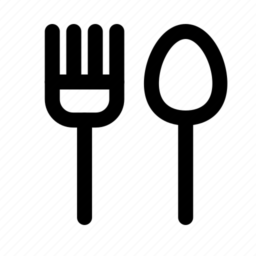 cutlery, fork, restaurant, spoon, tourism, travel, traveling icon