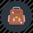 backpack, travel backpack, luggage bag, shoulder bag, knapsack, rucksack