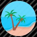 beach, resort, tropical place, holiday, island, palm