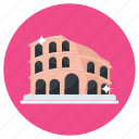 colosseum, flavian amphitheater, italian landmark, rome monument, landmark