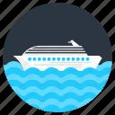 cruise, ship, watercraft, travel, craft, boat