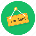 for, rent, for rent hanger, for rent tag, for rent label, house for rent, room for rent