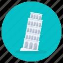 pisa, tower, landmark, pisa tower, italy landmark, free standing tower, leaning tower