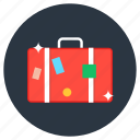 suitcase, briefcase, travel bag, baggage, carryall bag, luggage icon