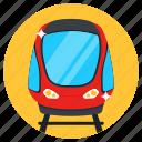 train, tram, transport, subway, railway