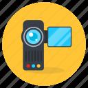 handycam, video camera, digital camera, camcorder, video shooting