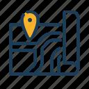 map, location, navigate, road