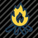 fire, bonfire, campfire, warm, flame