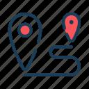 location, route, navigate, destination