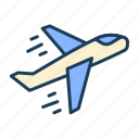 flight, airplane, plane, take off