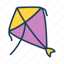 kite, play, fun, childhood