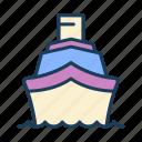 cruiser, ship, yacht, boat