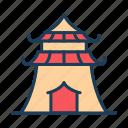 temple, ancient, building, landmark