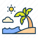 summer, beach, sea, vacation