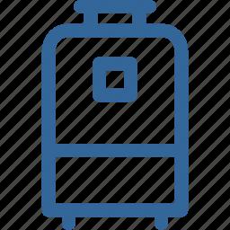 bag, holiday, traveling, vacation, wheeled travel bag icon