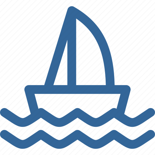 boat, ocean, sailing, transportation, wave icon