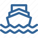 ocean, ship, transportation, wave icon