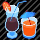 cocktails, drink, alcohol, glasses